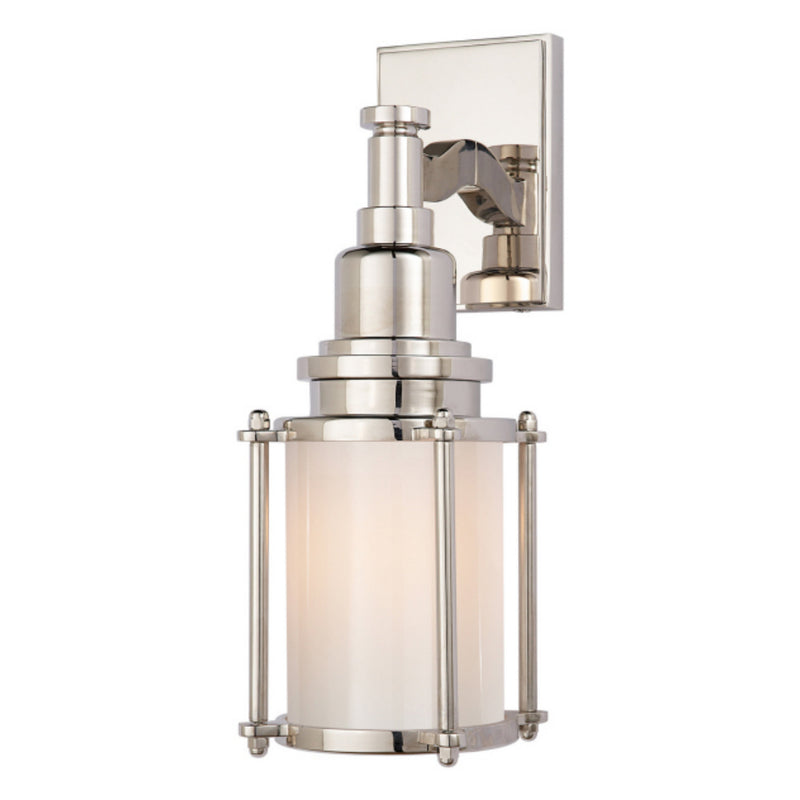 Visual Comfort CHD 2050PN-WG Chapman & Myers Stanway Sconce in Polished Nickel