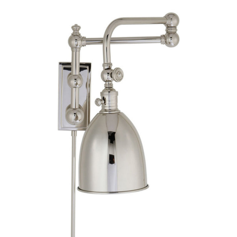 Visual Comfort CHD 2150PN-PN Chapman & Myers Pimlico Double Swing Arm in Polished Nickel