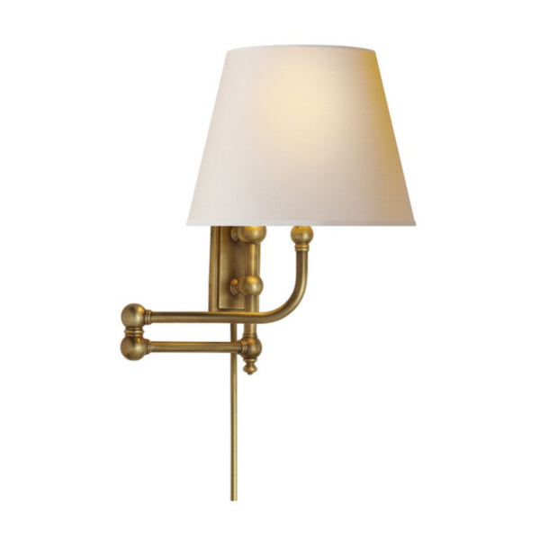 Visual Comfort CHD 2154AB-NP Chapman & Myers Pimlico Swing Arm in Antique-Burnished Brass