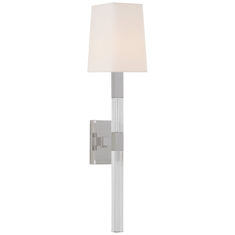 Visual Comfort CHD 2901PN/CG-L Chapman & Myers Reagan Medium Tail Sconce in Polished Nickel and Crystal