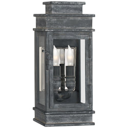 Visual Comfort CHD 2907WZ-CG Chapman & Myers Linear Mini Wall Lantern in Weathered Zinc