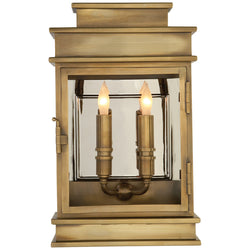 Visual Comfort CHD 2908AB Chapman & Myers Linear Lantern Short in Antique-Burnished Brass