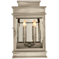 Visual Comfort CHD 2908AN Chapman & Myers Linear Lantern Short in Antique Nickel