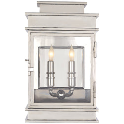 Visual Comfort CHD 2908PN Chapman & Myers Linear Lantern Short in Polished Nickel