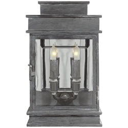 Visual Comfort CHD 2908WZ Chapman & Myers Linear Lantern Short in Weathered Zinc