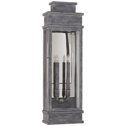 Visual Comfort CHD 2911WZ-CG Chapman & Myers Linear Large Wall Lantern in Weathered Zinc