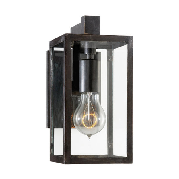 Visual Comfort CHD 2930AI-CG Chapman & Myers Modern Fresno Framed Short Sconce in Aged Iron