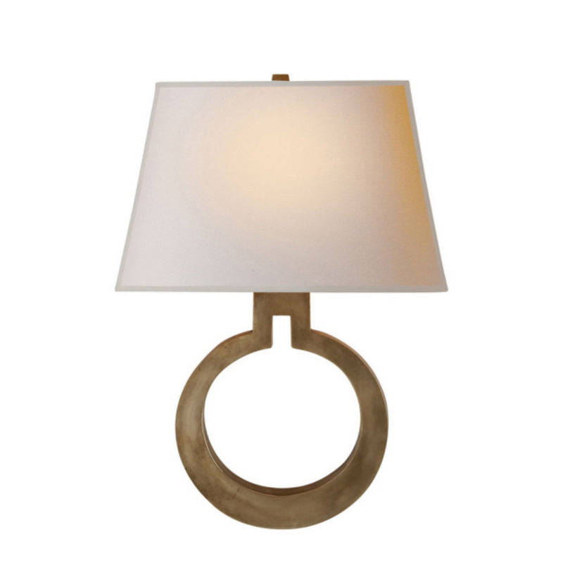 Visual Comfort CHD 2970AB-NP Chapman & Myers Ring Form Large Wall Sconce in Antique-Burnished Brass