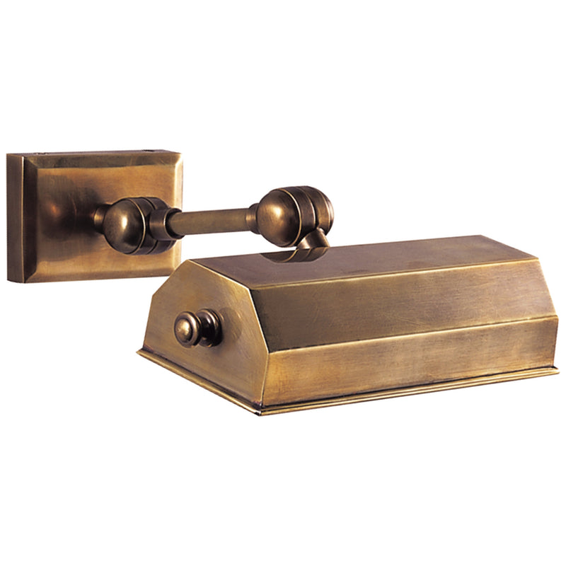 "Visual Comfort CHD 5117AB Chapman & Myers Dorchester 8"" Picture Light in Antique-Burnished Brass"