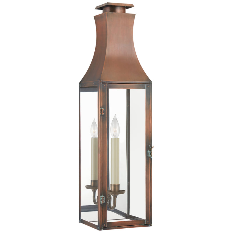 Visual Comfort CHO 2030NC-CG Chapman & Myers Charlestown Large 3/4 Wall Lantern in Natural Copper