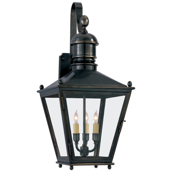 Visual Comfort CHO 2032BZ Chapman & Myers Sussex Medium Bracket Lantern in Bronze