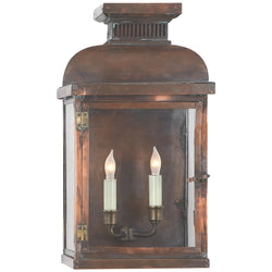 Visual Comfort CHO 2062NC Chapman & Myers Suffork Wide Short 3/4 Lantern in Natural Copper