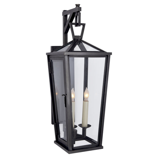 Visual Comfort CHO 2086BZ Chapman & Myers Darlana Small Tall Bracketed Wall Lantern in Bronze