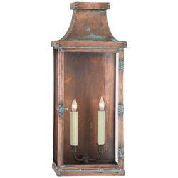 Visual Comfort CHO 2157NC Chapman & Myers Bedford Wide Tall 3/4 Lantern in Natural Copper