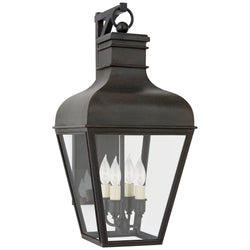 Visual Comfort CHO 2160FR-CG Chapman & Myers Fremont Small Bracketed Wall Lantern in French Rust