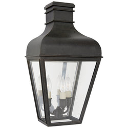 Visual Comfort CHO 2164FR-CG Chapman & Myers Fremont Small 3/4 Wall Lantern in French Rust