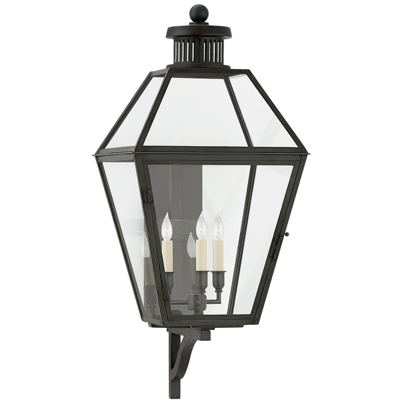 Visual Comfort CHO 2371BC-CG Chapman & Myers Stratford Medium Bracketed Wall Lantern in Blackened Copper