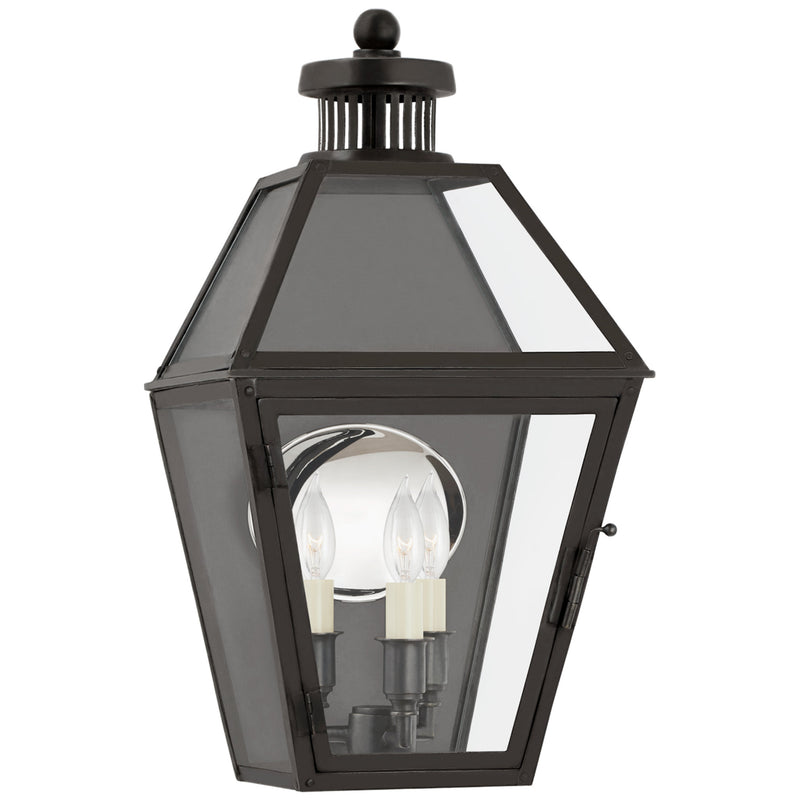 Visual Comfort CHO 2373BC-CG Chapman & Myers Stratford Small 3/4 Wall Lantern in Blackened Copper