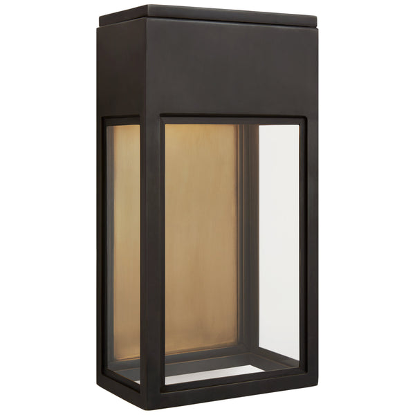 Visual Comfort CHO 2444BZ-CG Chapman & Myers Irvine Small 3/4 Wall Lantern in Bronze