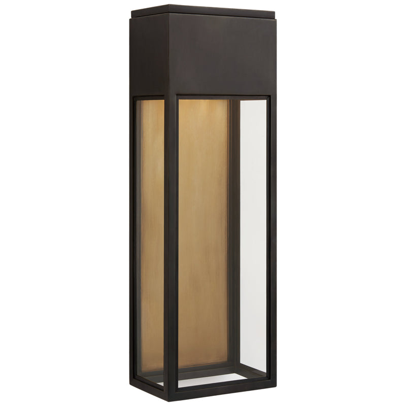 Visual Comfort CHO 2446BZ-CG Chapman & Myers Irvine Large 3/4 Wall Lantern in Bronze