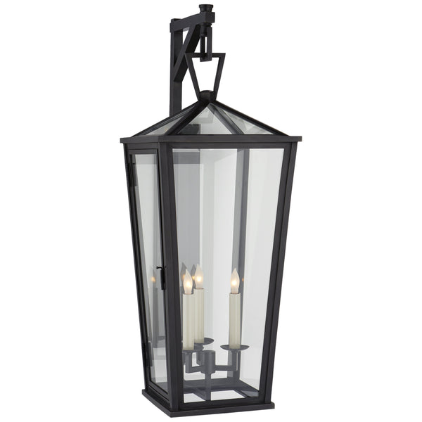 Visual Comfort CHO 2789BZ-CG Chapman & Myers Darlana Large Tall Bracketed Wall Lantern in Bronze