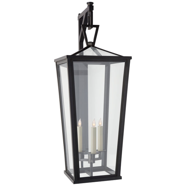 Visual Comfort CHO 2790BZ-CG Chapman & Myers Darlana Grande Tall Bracketed Wall Lantern in Bronze