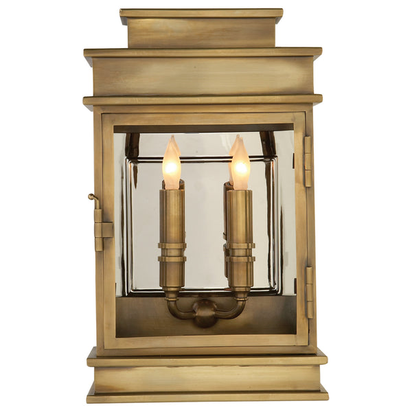 Visual Comfort CHO 2908AB Chapman & Myers Linear Lantern Short in Antique-Burnished Brass