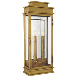 Visual Comfort CHO 2910AB Chapman & Myers Linear Lantern Tall in Antique-Burnished Brass