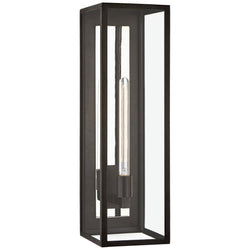 Visual Comfort CHO 2933AI-CG Chapman & Myers Fresno Grande 3/4 Wall Lantern in Aged Iron