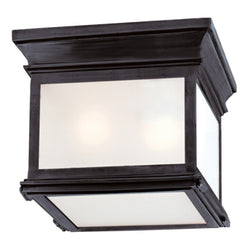 Visual Comfort CHO 4310BZ-FG Chapman & Myers Club Small Square Flush Mount in Bronze