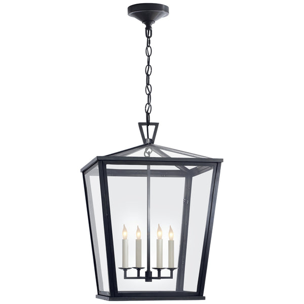 Visual Comfort CHO 5085BZ Chapman & Myers Darlana Medium Hanging Lantern in Bronze