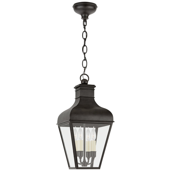 Visual Comfort CHO 5161FR-CG Chapman & Myers Fremont Medium Hanging Lantern in French Rust