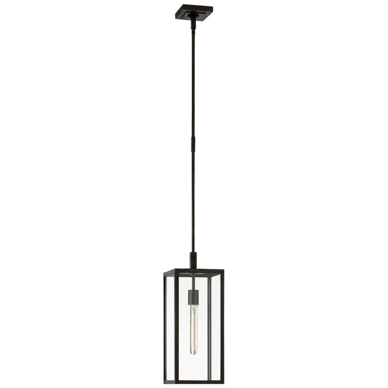 Visual Comfort CHO 5932AI-CG Chapman & Myers Fresno Small Hanging Lantern in Aged Iron
