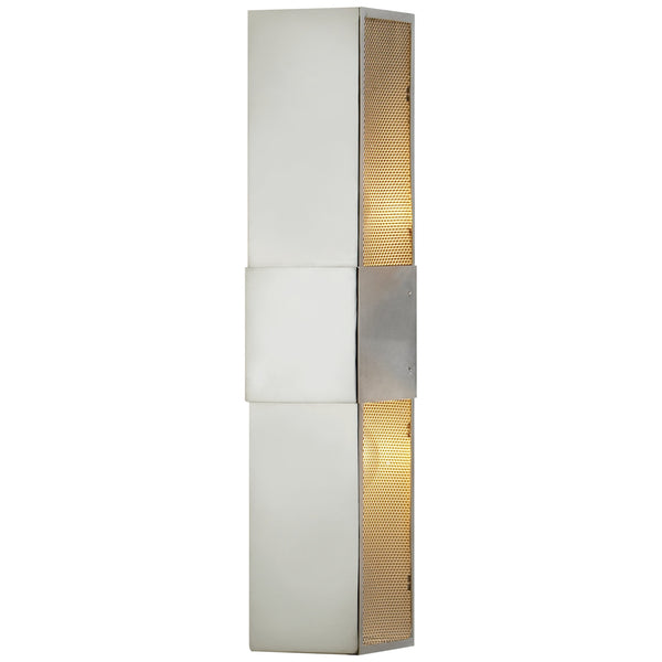 "Visual Comfort CL 2181PN Clodagh Modern Bowery 18"" Wall Sconce in Polished Nickel"