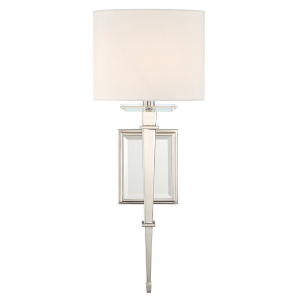 Crystorama CLI-231-PN Clifton Wall Mount in Polished Nickel