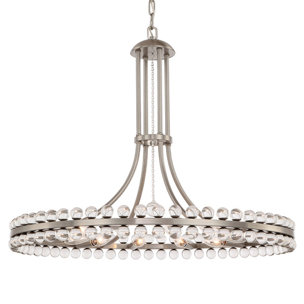 Crystorama CLO-8899-BN Clover Chandelier in Brushed Nickel