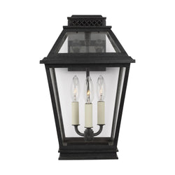 Generation Lighting CO1023DWZ Chapman & Myers Falmouth 3 Light Outdoor Light in Dark Weathered Zinc