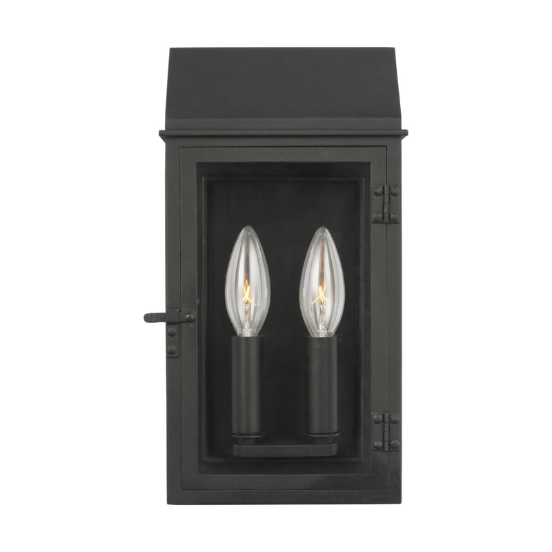 Generation Lighting CO1252TXB Chapman & Myers Hingham 2 Light Outdoor Light in Textured Black