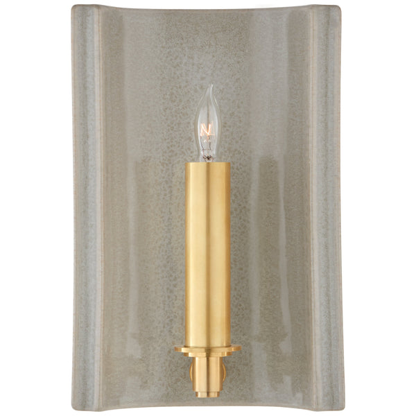 Visual Comfort CS 2609SHG Christopher Spitzmiller Casual Leeds Small Rectangle Sconce in Shellish Gray