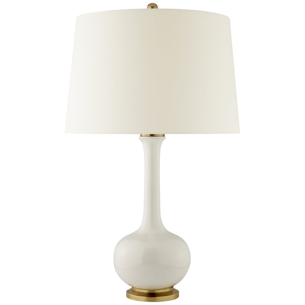 Visual Comfort CS 3611IVO-PL Christopher Spitzmiller Coy Medium Table Lamp in Ivory