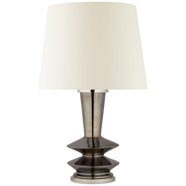 Visual Comfort CS 3646BKP-L Christopher Spitzmiller Modern Whittaker Medium Table Lamp in Black Pearl