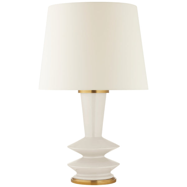 Visual Comfort CS 3646IVO-L Christopher Spitzmiller Modern Whittaker Medium Table Lamp in Ivory