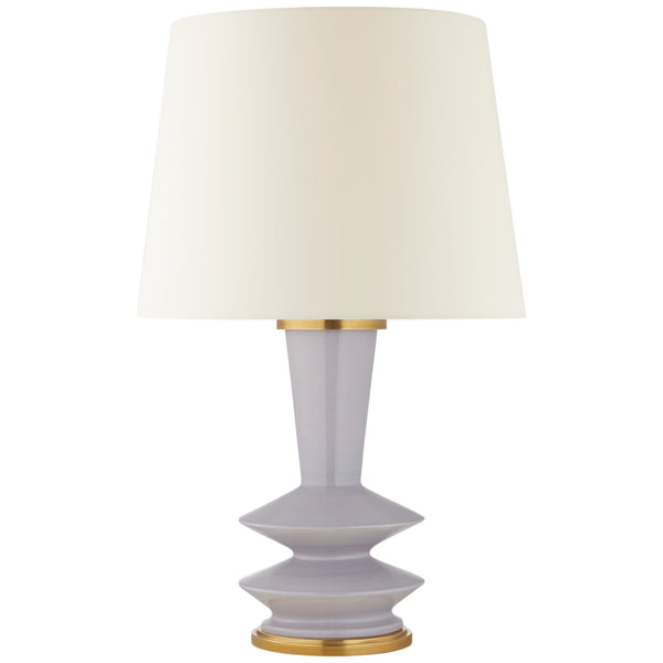Visual Comfort CS 3646LLC-L Christopher Spitzmiller Modern Whittaker Medium Table Lamp in Lilac