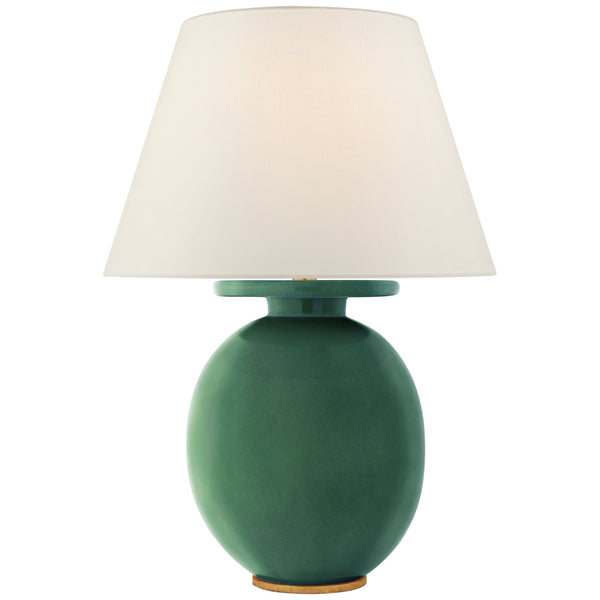 Visual Comfort CS 3658CGC-L Christopher Spitzmiller Casual Hans Medium Table Lamp in Celtic Green Crackle