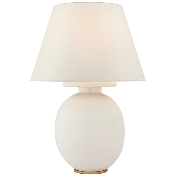 Visual Comfort CS 3658IVO-L Christopher Spitzmiller Casual Hans Medium Table Lamp in Ivory