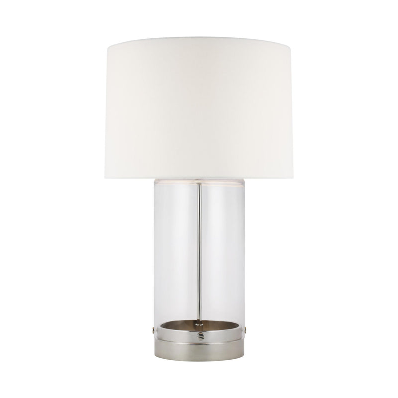 Generation Lighting CT1001PN1 Chapman & Myers Garrett 1 Light Portable Lamp in Polished Nickel