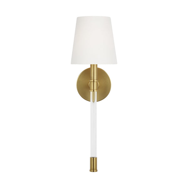 Generation Lighting CW1081BBS Chapman & Myers Hanover 1 Light Wall / Bath Light in Burnished Brass