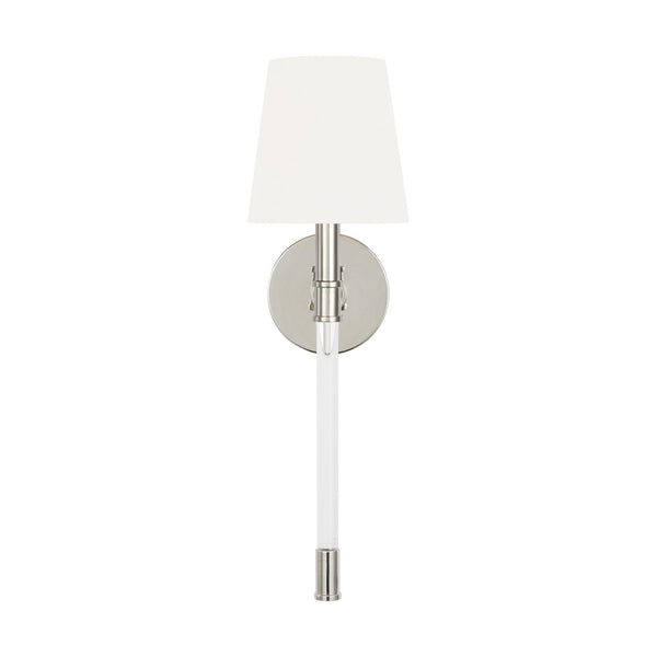 Generation Lighting CW1081PN Chapman & Myers Hanover 1 Light Wall / Bath Light in Polished Nickel