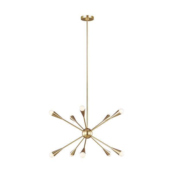 Generation Lighting EC10310BBS Ellen DeGeneres Jax 10 Light Chandelier in Burnished Brass