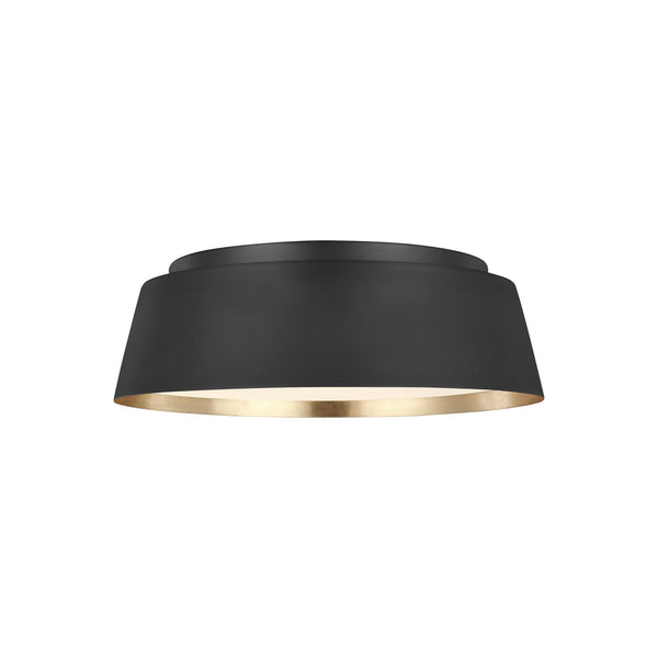 Generation Lighting EF1003MBK Ellen DeGeneres Asher 3 Light Ceiling Light in Midnight Black